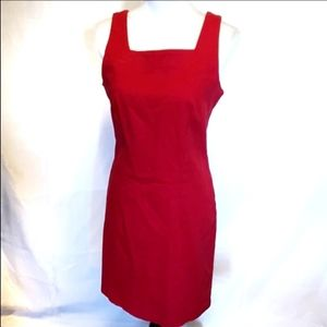 Vintage Red Sexy Sheath Cocktail career dress M